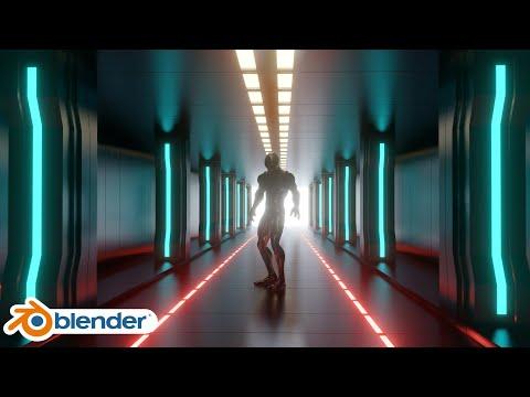 Tutorial Blender 2.8 Corredor Sci Fi Español