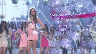 Miss Turkey 2012 - Çagil Özge Özkul Jouney in Miss Universe 2012