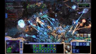 Starcraft 2, 2 on 2 mode.
