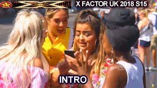 INTRO Simon Paula Ryan Leona Randy & Behind the Scenes Judges House X Factor UK 2018