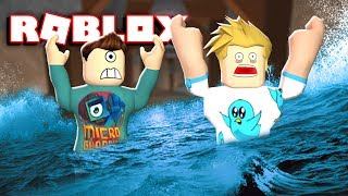 ROBLOX FLOOD ESCAPE w/ Gamer Chad! | THEY TOOK MY GILLS!!!