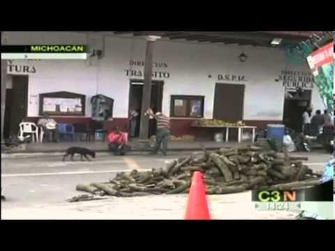 Habitantes de Tancítaro huyen de sus hogares a causa de las amenazas del crimen organizado