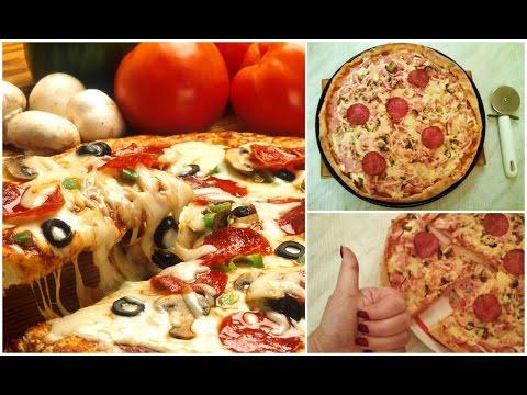 Как приготовить тонкую пиццу - видео