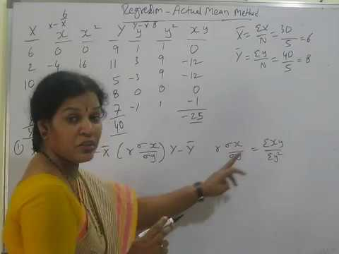 """Regression  -  Actual Mean Method Problems & Solutions"" In Statistics By Dr.Devika Bhatnagar"