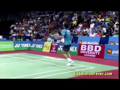 Crazy Defense by Parupalli Kashyap vs Lee Chong Wei - India Open 2014