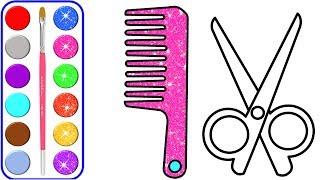 Accesorios para el cabello Glitter para colorear y dibujar Aprender colores para niños