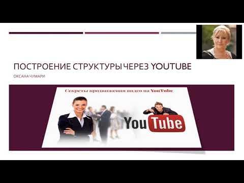 Построение структуры через YouTube. Секреты продвижения видео