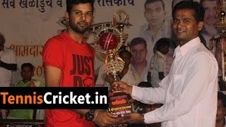 Omkar Patil Batting in Mahesh Sports Club Chashak 2015,Shelghar