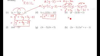 RM Algebra 2 Summer Packet 25-32