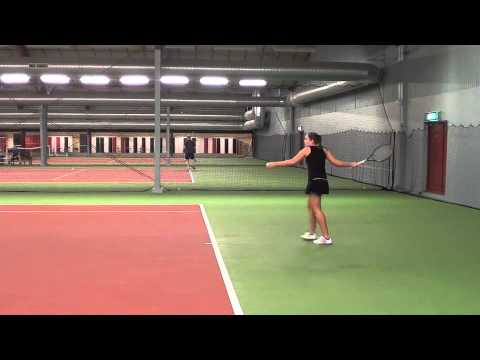 Lina Åkesson   Tennis College Recruiting Video 2013