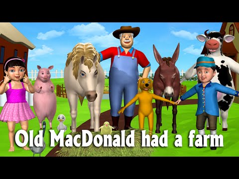 Old Macdonald Had A Farm - 3d Animation Animals Songs & Nursery Rhymes For Children video