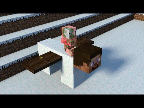 Monster School: Building Snow Golem - Minecraft Animation