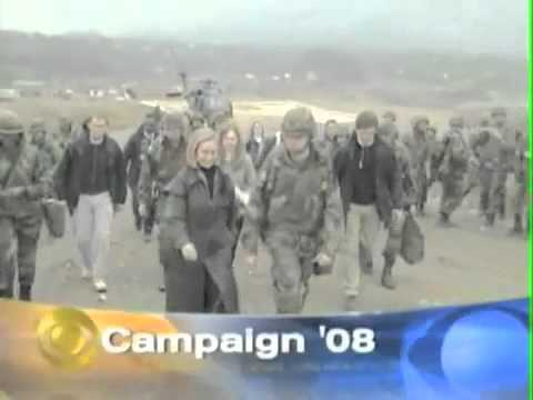 Hillary WASN #39;T LYING  Bosnia gunfire footage discovered