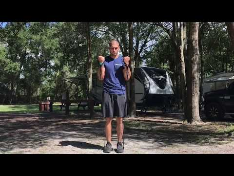 RESISTANCE BAND CURLS