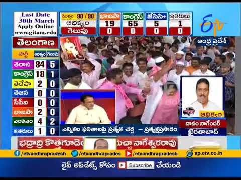 Celebrations begin as TRS set to retain power with big majority
