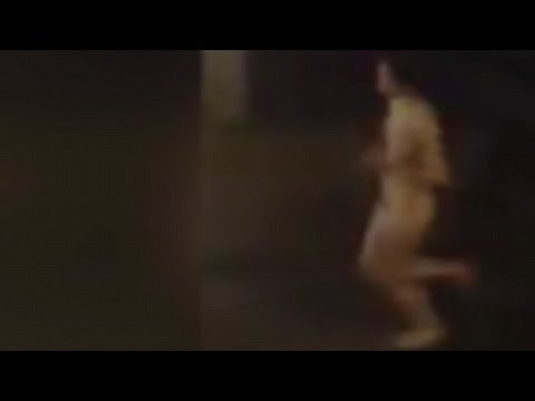 Female jogger caught on camera running NAKED down London
