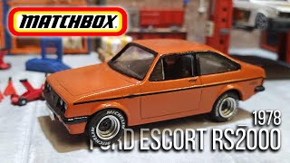 MATCHBOX Resto & Custom : 1978 Ford Escort RS2000
