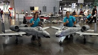 INDOOR FLIGHT 2X A-10 THUNDERBOLT II WARTHOG BIG RC SCALE MODEL LIGHT-WEIGHT JET / Leipzig 2016