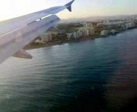 Landing in Larnaca, cyprus.