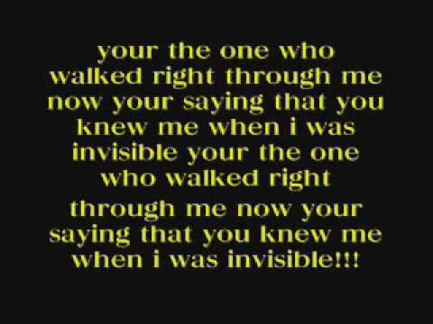 Ashlee Simpson invisible lyrics!!!!