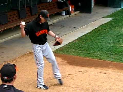 Tim Lincecum bullpen session