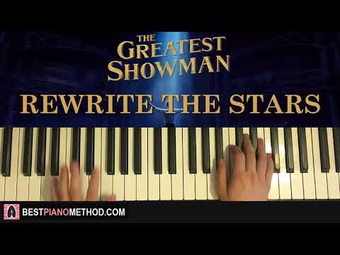 HOW TO PLAY - The Greatest Showman - Rewrite The Stars (Piano Tutorial Lesson)