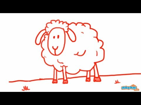 Sheep Drawings For Kids How to Draw a Sheep Step by