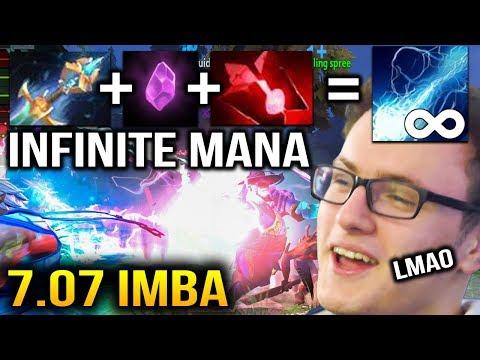 IMBA Miracle- Storm Infinite Mana with KAYA + ARCANE RUNE - Dota 2 7.07b