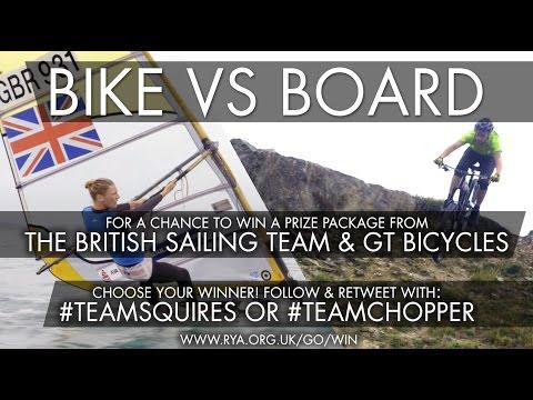 Windsurfing vs Mountain Biking Challenge - Bike vs Board - Race to the Lighthouse