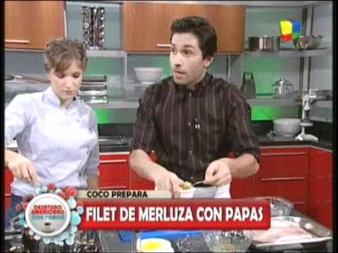 FILETES DE MERLUZA A LA ROMANA CON PAPAS NATURAL