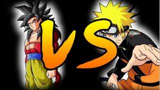 Anime Legends - Goku (Super Saiyan 4) VS Naruto