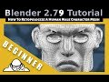 How To Retopologize A Human Male Character Head in Blender 2.79