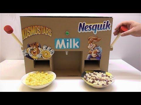 Как сделать диспенсер Nesquik and Kosmostars с молоком из картона