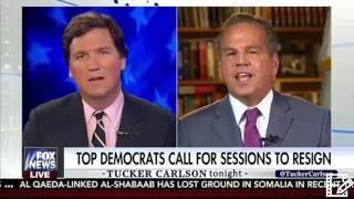 TuCKER CARLSON takes on DEMS Calling For JEFF SESSIONS to RESIGN