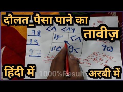 Taweez for Getting Money,Dolat, izzat, Sohrat in Hindi || wazifa for Getting Rich