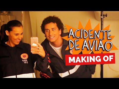 MAKING OF - ACIDENTE DE AVIÃO Vídeos de zueiras e brincadeiras: zuera, video clips, brincadeiras, pegadinhas, lançamentos, vídeos, sustos