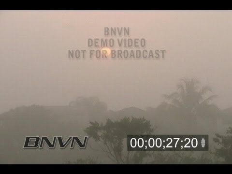4/9/2004 Miramar, Florida Fog And Sunrise Video