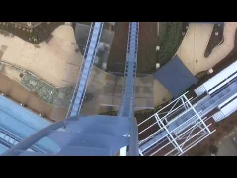 HD Ride the Griffon Roller Coaster Front Seat Busch Gardens Europe
