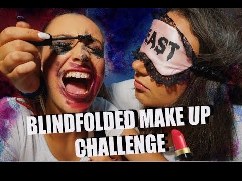 Blindfolded makeup challenge