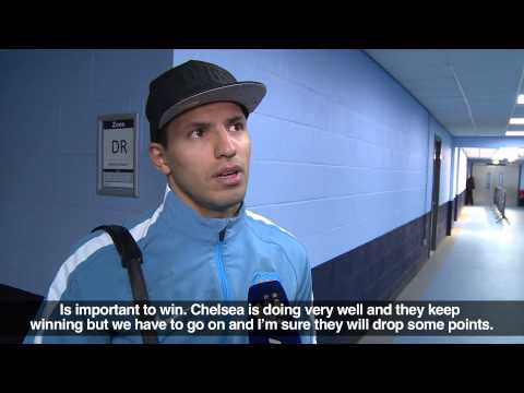 SERGIO ON DERBY GOAL I City 1 - 0 United - Premier League