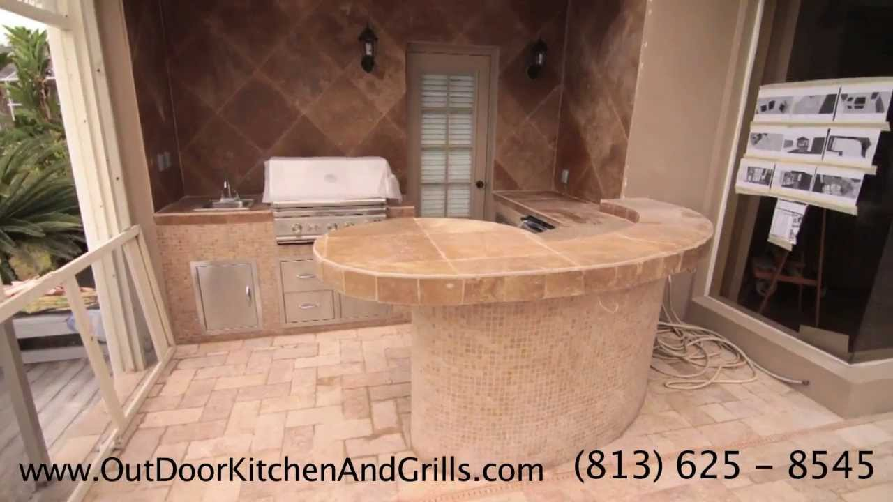 DIY Outdoor Kitchen And Pool On Backyard Outdoors. Do It Yourself!!