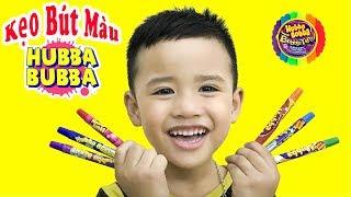 Trò Chơi Ăn Kẹo Bút Màu Hubba Bubba 100% ♥ Min Min TV ♥