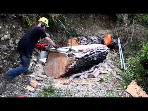 How to mill a tree using an Alaskan Chainsaw mill