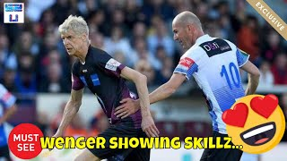 Arsene Wenger Making Light Work of Zidane in Charity Match 😍 2019 HD
