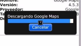 Instalacion de Google Maps en el BlackBerry 8520