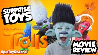 TROLLS Movie Toys & Trolls Surprise Toys + Movie Review, Blind Bags and Family Fun