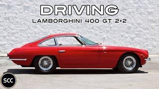 LAMBORGHINI 400 GT 2+2 1968 - Full test drive in top gear - V12 Engine sound   SCC TV