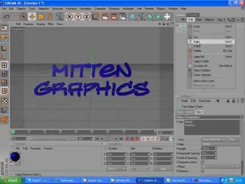 MitteN Graphics On Cinema 4D