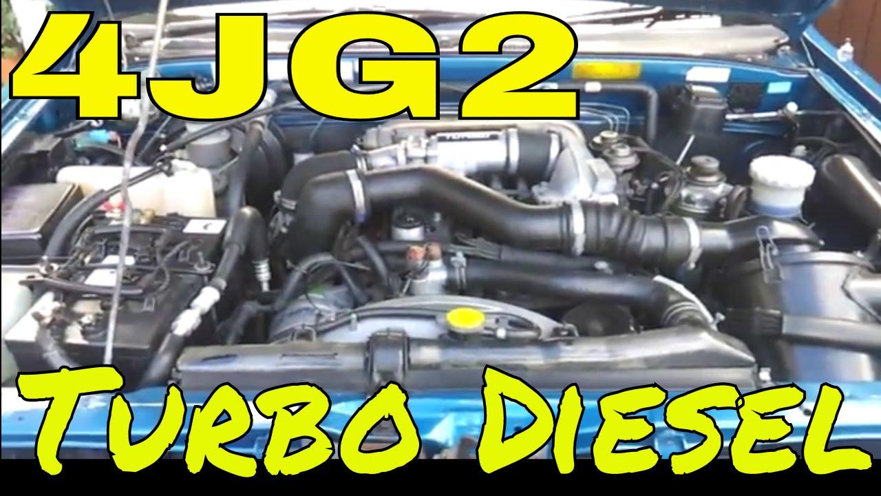 4jg2 3 1l I4 Turbo Diesel 3059cc Rare 5 Speed Manual