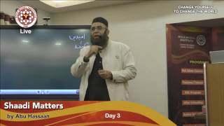 Shaadi Matters Workshop by Br.Abu Hassan (Day-3/8)